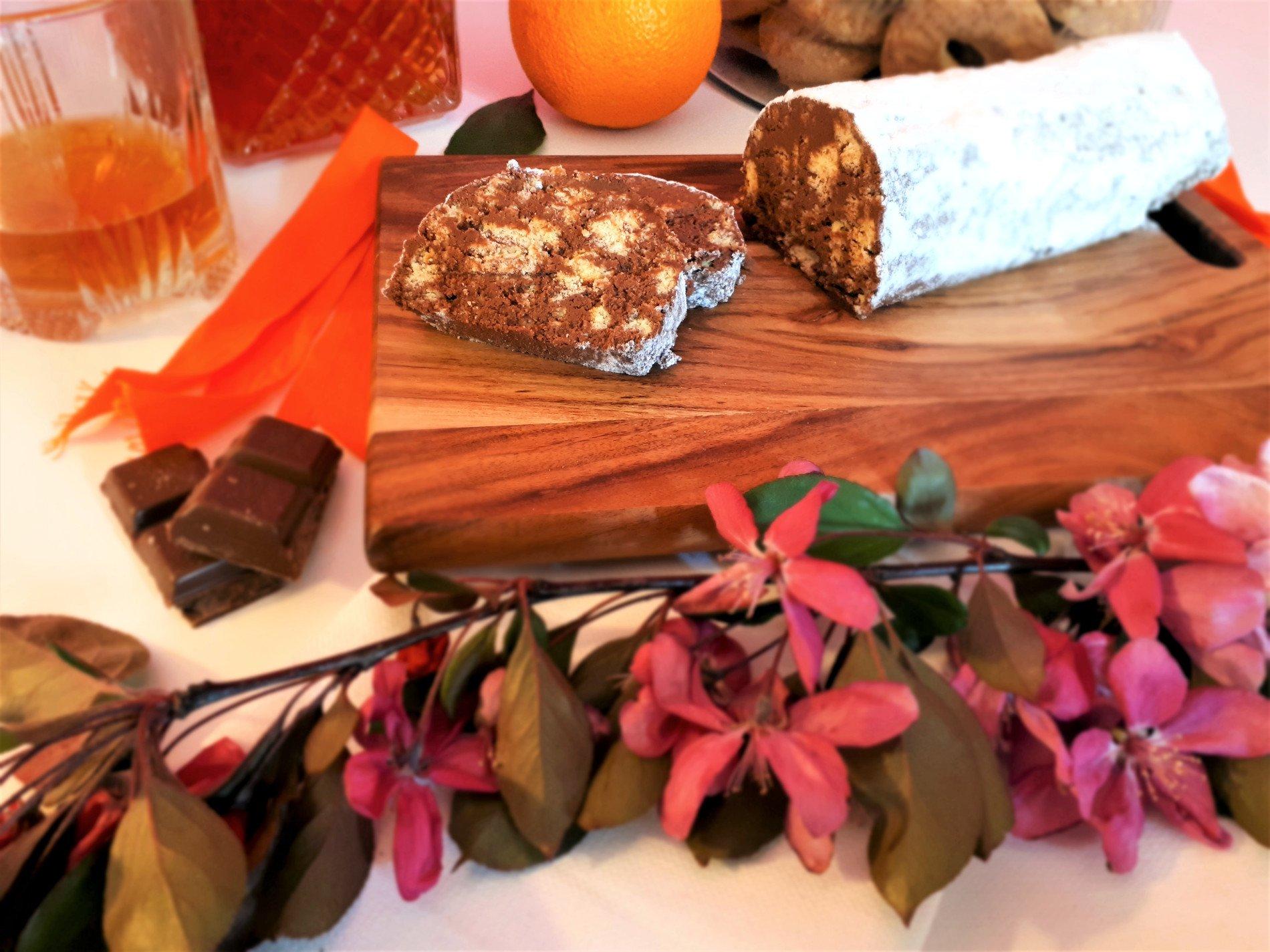 czekoladowe salami
