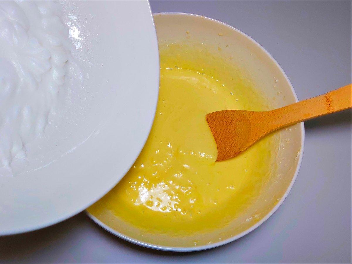 krem pomarańczowy dodawanie białek