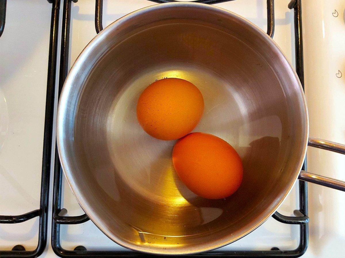 vitello tonnato gotowanie jajek