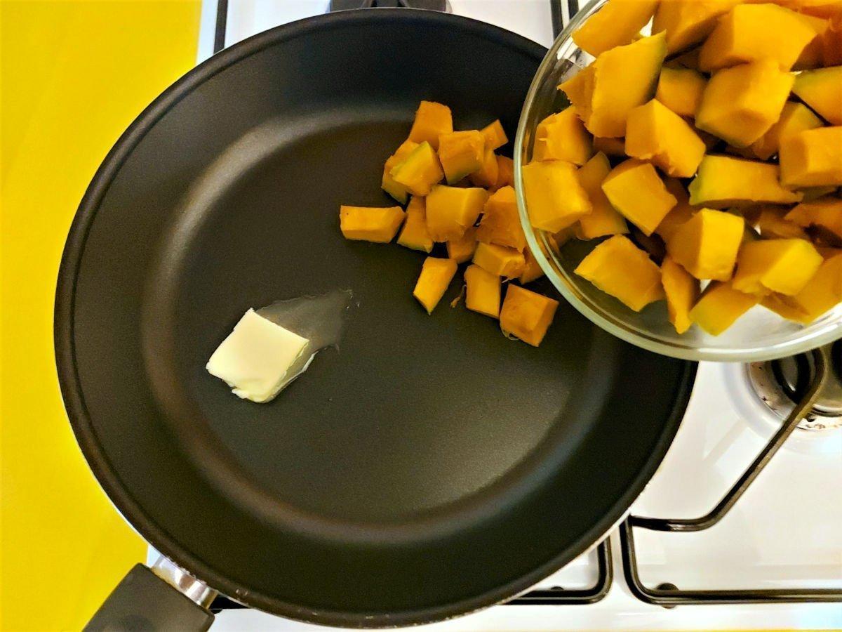 ciasto dyniowe podsmażanie dyni